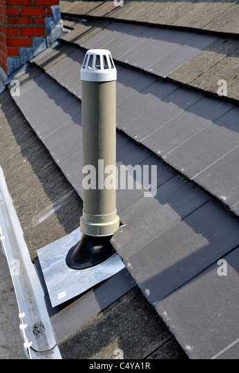 Vent pipe stock photos vent pipe stock images alamy for Outside waste pipe