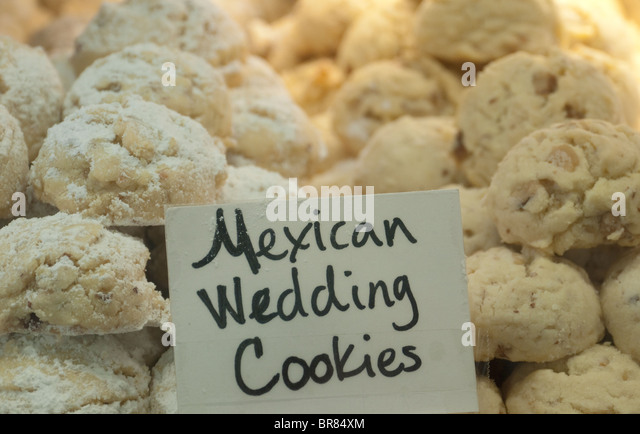 Desserts on display bakery in stock photos desserts on for Traditional mexican wedding cookies