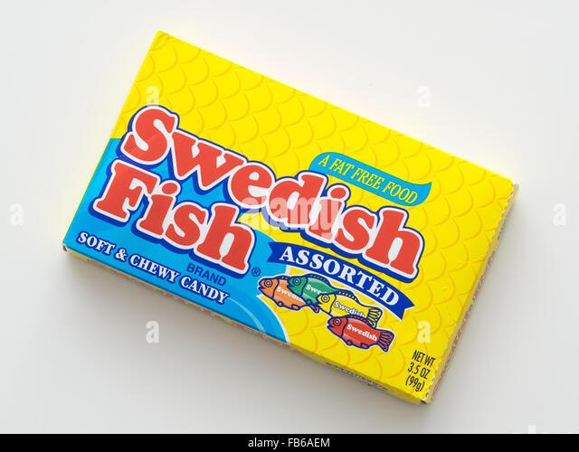 Swedish fish candy stock photos swedish fish candy stock for Swedish fish box