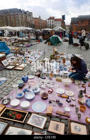 Belgium Flea Market Stock Photos & Belgium Flea Market ...