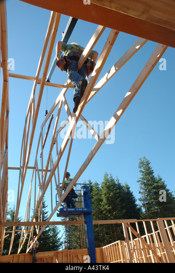 Plastic spacer stock photos plastic spacer stock images for Roof trusses installation