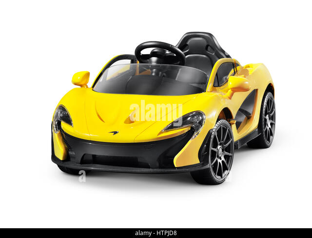 little mclaren p1tm electric car for kids battery powered toy supercar isolated on white background with
