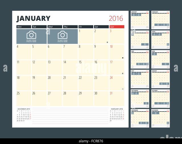 Monday Calendar Stock Photos & Monday Calendar Stock Images - Alamy