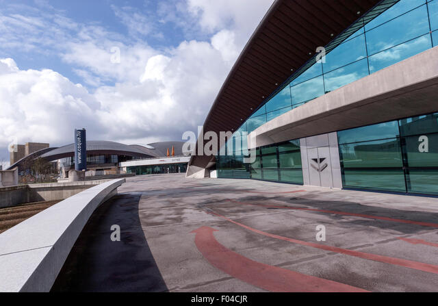 Olympic swimming pool indoor stock photos olympic swimming pool indoor stock images alamy for Swimming pool luxembourg kirchberg