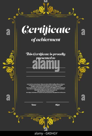 Scroll border stock photos scroll border stock images for Certificate of appearance template