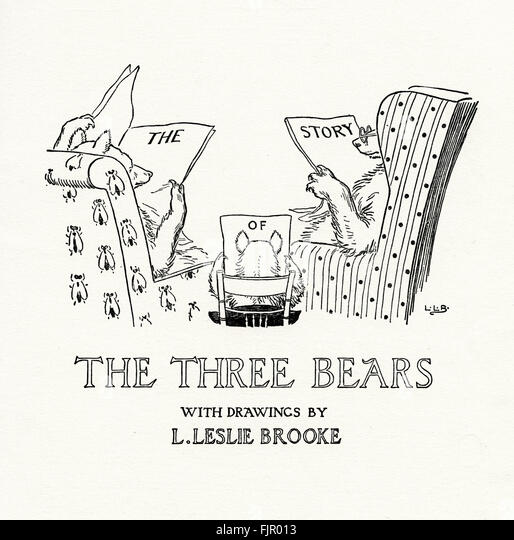 the three bears title page from the golden goose book 1905 illustrated