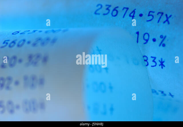 Return Receipt Request Excel Vat Tax Receipt Stock Photos  Vat Tax Receipt Stock Images  Alamy Dod Hand Receipt Form with How To Invoice For Freelance Work Addition Strip An Abacus  Stock Image Invoice Price Of A Bond Word