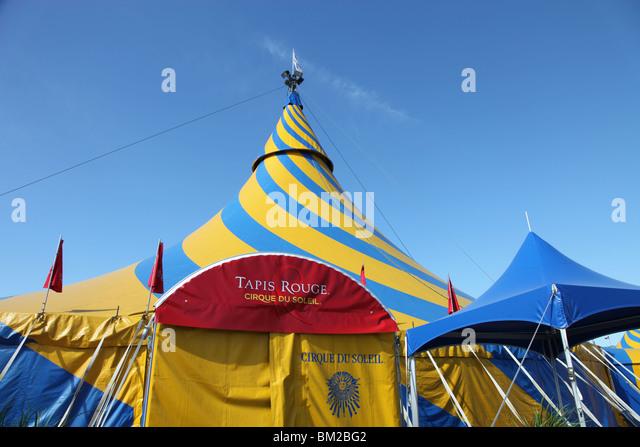 Cirque du Soleil Tapis Rouge (Red Carpet) tent - Stock Image & Cirque Du Soleil Montreal Stock Photos u0026 Cirque Du Soleil Montreal ...