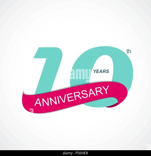 Th anniversary logo stock photos