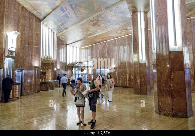 Ceiling mural stock photos ceiling mural stock images for Chrysler building lobby mural