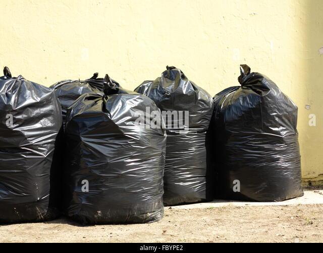Pile Full Black Garbage Bags Stock Photos & Pile Full ...