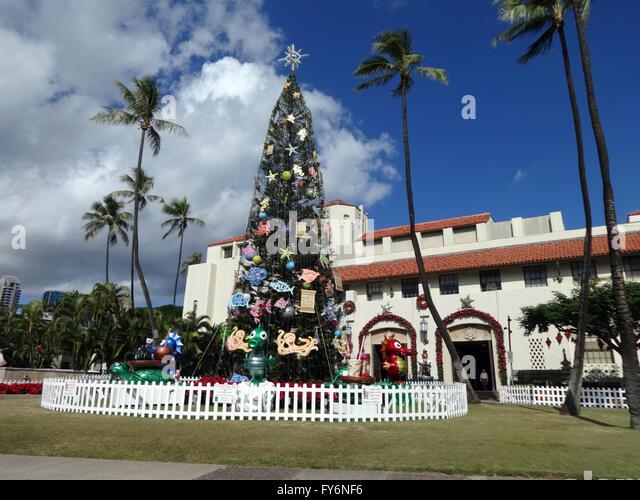 Tropical Tree Christmas Lights Stock Photos & Tropical Tree ...