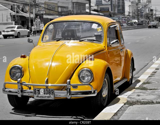 volkswagen beetle yellow stock photos volkswagen beetle. Black Bedroom Furniture Sets. Home Design Ideas