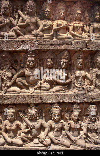 Carvings cambodia stock photos