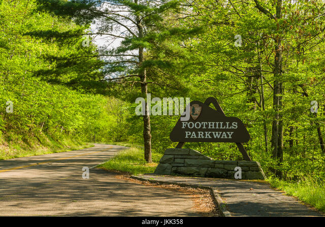 Sign, Foothills Parkway, East TN - Stock Image