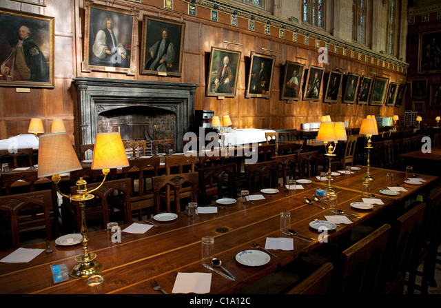 Interior Of The Great Hall At Christ Church College Oxford University Oxfordshire