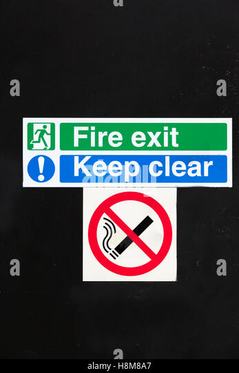 Fire Exit Sign Uk Stock Photos & Fire Exit Sign Uk Stock ...