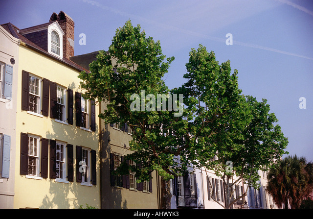Rowhome stock photos rowhome stock images alamy for Charleston row houses