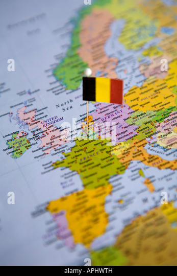 Brussels Map Stock Photos Brussels Map Stock Images Alamy - Brussels on world map