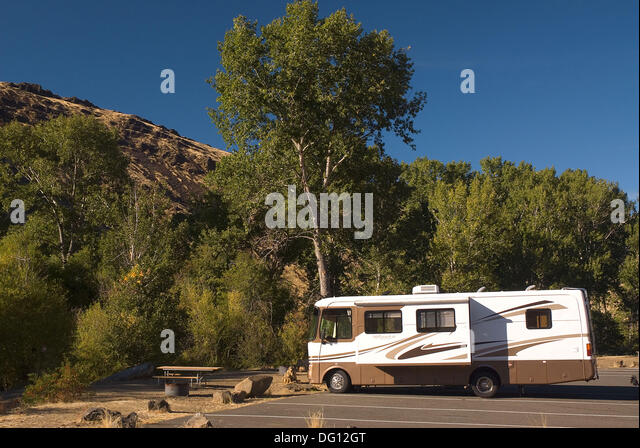 Motorhome Yakima River Canyon Scenic And Recreational Highway Washington USA