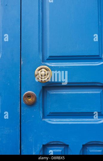 Blue Door Handle Stock Photos & Blue Door Handle Stock Images - Alamy