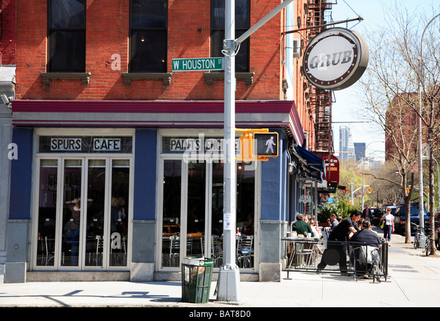 Great Silver Spurs Cafe Greenwich Village New York City   Stock Image
