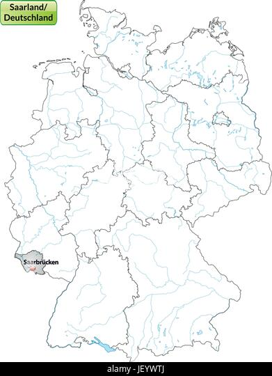 Saarland Map Vector Stock Photos Saarland Map Vector Stock Images