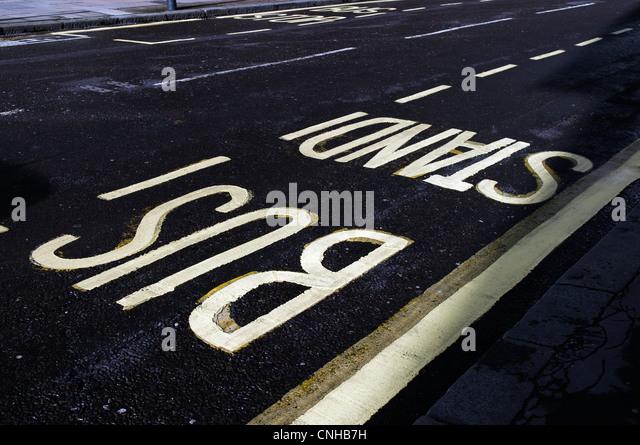 Bus Lane Markings Stock Photos & Bus Lane Markings Stock ...