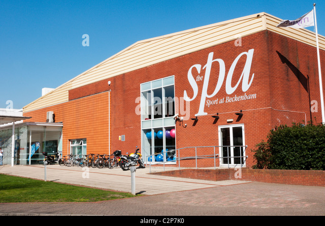 Leisure centre stock photos leisure centre stock images - Watford swimming pool with slides ...