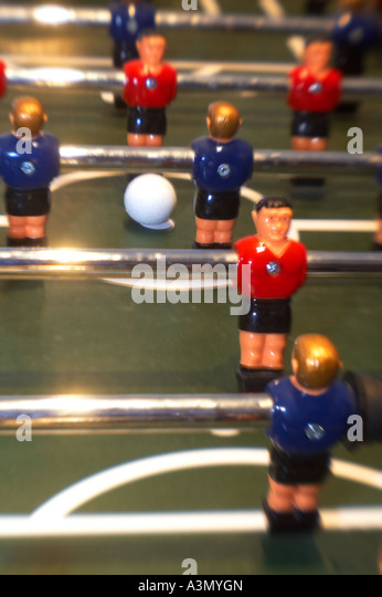 Close Up Detail Foosball Table   Stock Image