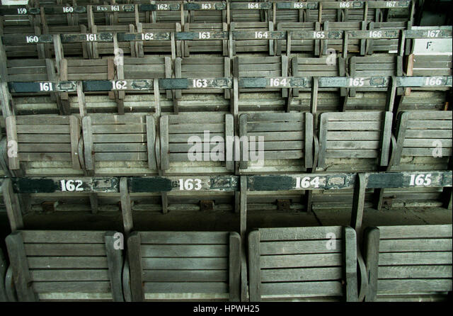WOODEN SEATING HOME PARK PLYMOUTH ARGYLE FC STADIUM 26 July 1998