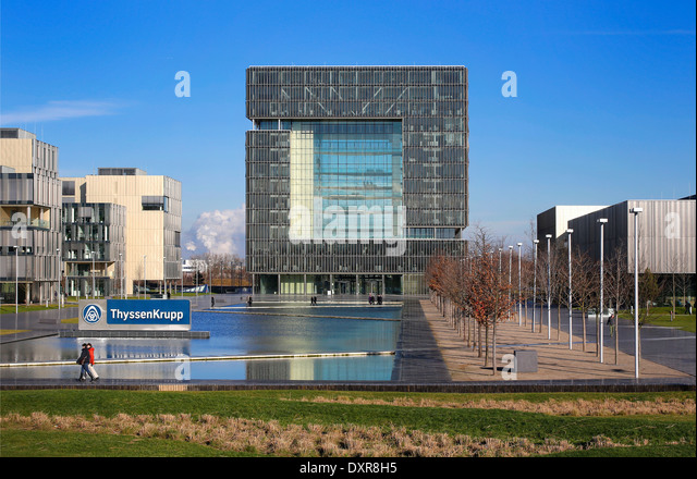 thyssenkrupp headquarters essen stock photos. Black Bedroom Furniture Sets. Home Design Ideas