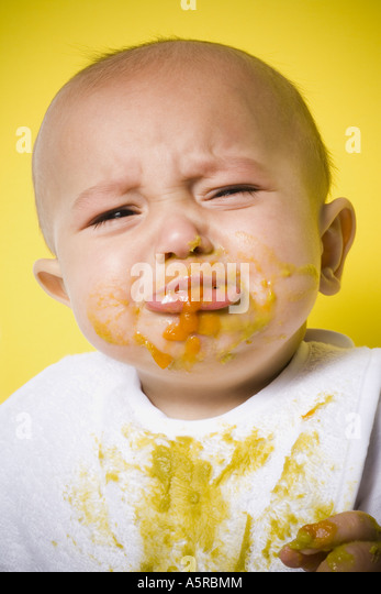 Baby Crying While Eating Baby Food
