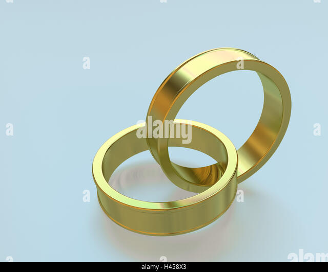 Soon Inge Gold Connected Two Wedding Rings
