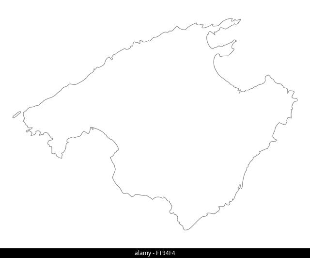 mallorca map stock photos mallorca map stock images alamy. Black Bedroom Furniture Sets. Home Design Ideas