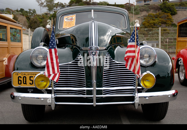 Southern California Classic: Classic American Car Woodie Stock Photos & Classic