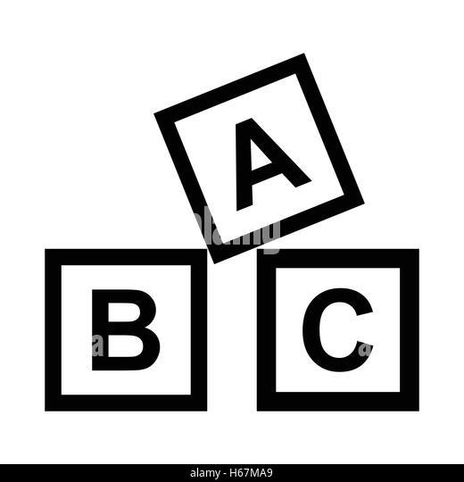Black And White Abc Blocks : Abc blocks black and white imgkid the image