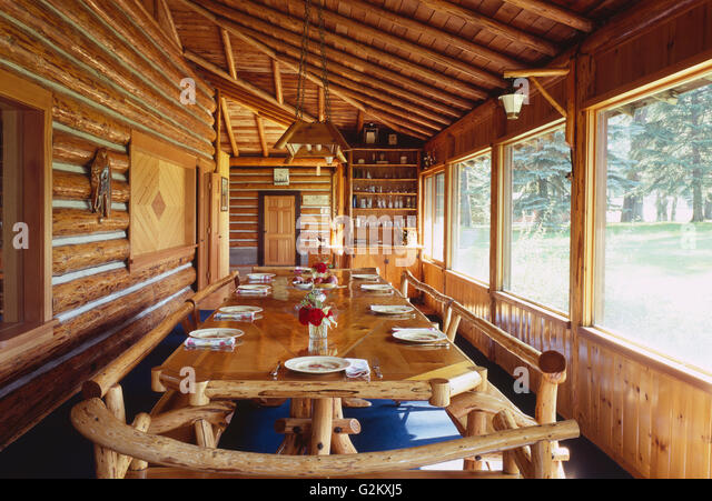 Log Cabin Dining Room Furniture - [peenmedia.com]