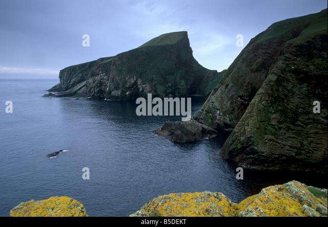 Fair Isle Scotland Cliffs Stock Photos & Fair Isle Scotland Cliffs ...