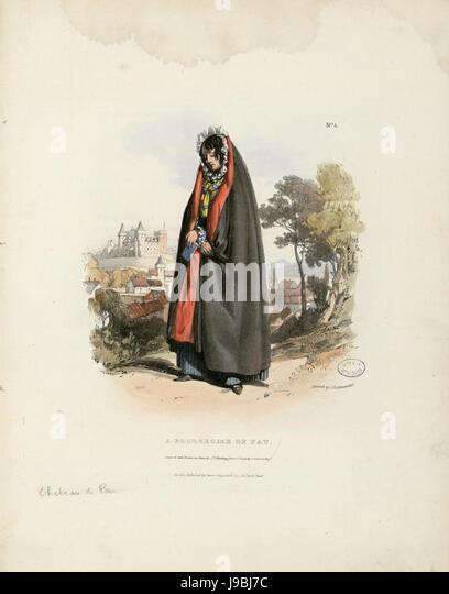 A Bourgeoise of Pau   Fonds Ancely   B315556101 A HARDING 024 - Stock Image