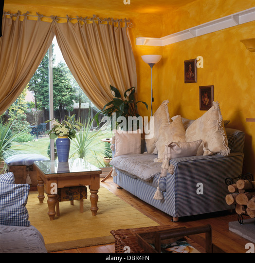 Orange Curtains Soft Furnishings Stock Photos Orange Curtains Soft Furnishings Stock Images