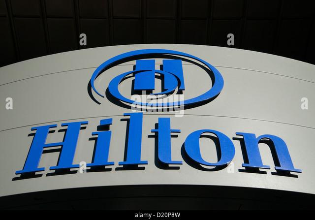 hilton hotel logo sign stock photos amp hilton hotel logo