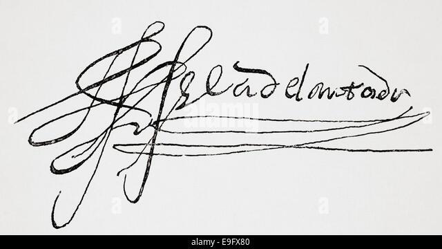 signature of gonzalo jimnez de quesada 1506 1579 spanish explorer and conquistador in