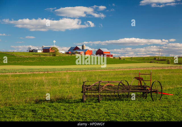 Farming implement stock photos farming implement stock Usa countryside pictures