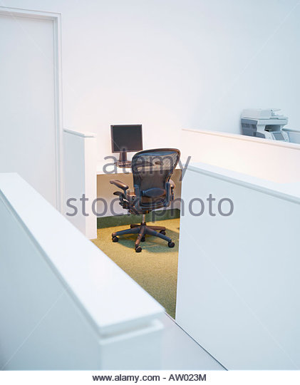 empty office cubicle stock image