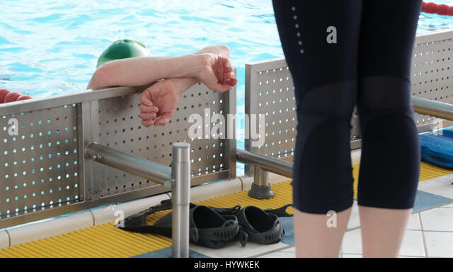 Swim classes stock photos swim classes stock images alamy - Swimming pool leipzig ...