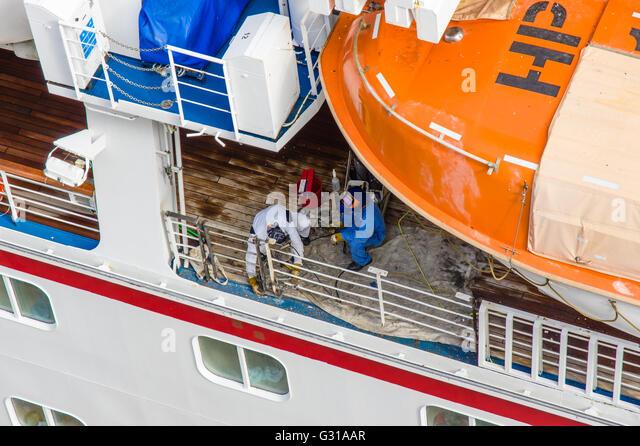 Crew Members Of Cruise Ship Stock Photos Crew Members Of Cruise - How many crew members on a cruise ship