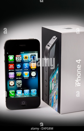An Apple IPhone4 With Its Delivery Box