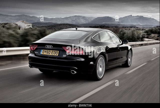 Audi A7 Sportback Driving At Speed   Stock Image