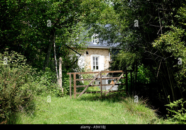 French country house stock photos french country house stock gate across path to french country house 2007 stock image sciox Choice Image